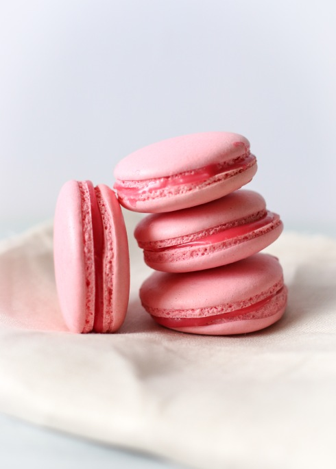 Red Skin Macarons