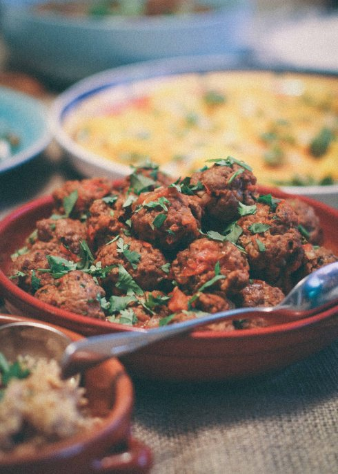 Moroccan lamb meatball stew