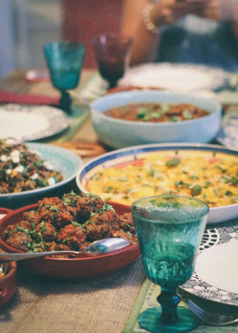 Moroccan table feast