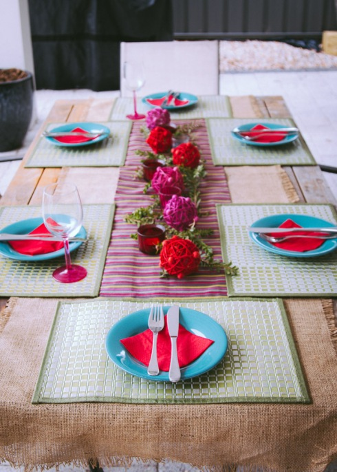 Spanish table setting